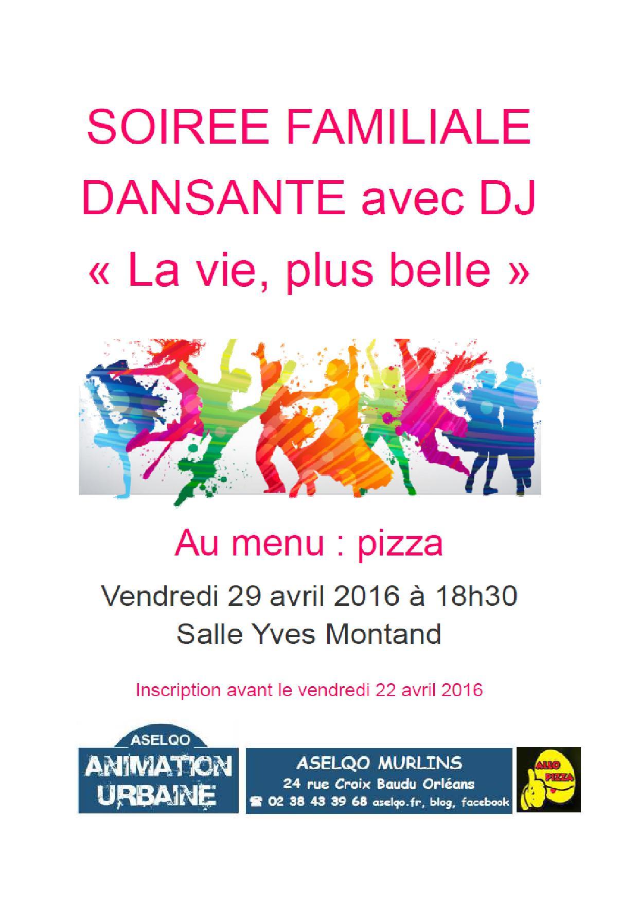 Affiche Soirée Familiale Dansante 29 avril 2016